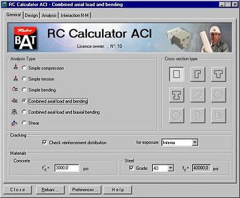 RC Calculator ACI